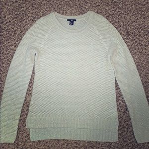 H&M cream and silver sparkle wool sweater